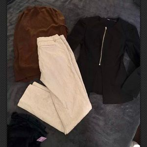 3 pc. Lot of clothing. 2 Tops & 1 Pant Size Small